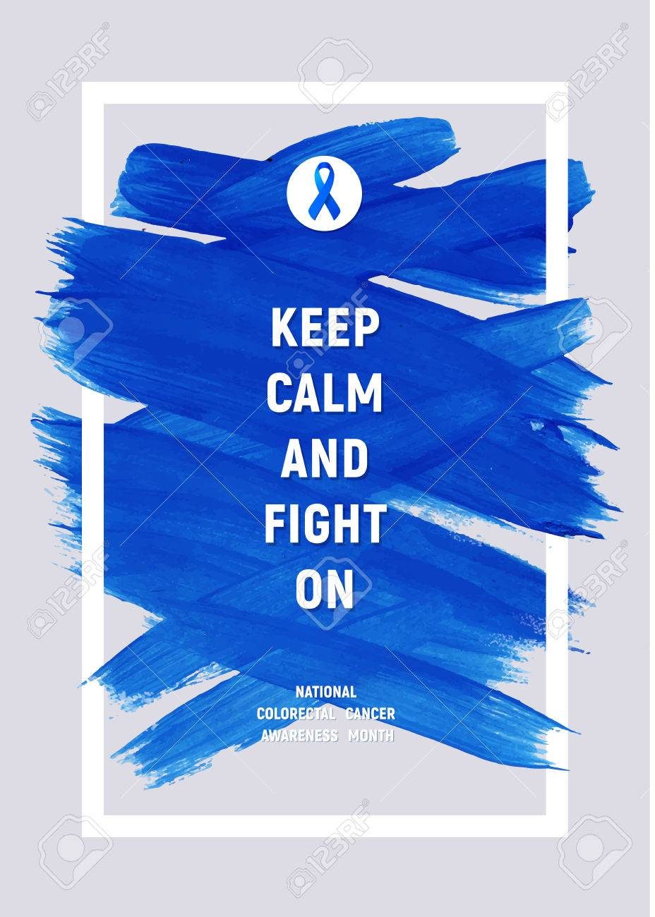 Clorectal Cancer Awareness Creative Grey And Blue Poster Brush Royalty Free Cliparts Vectors And Stock Illustration Image 72698665