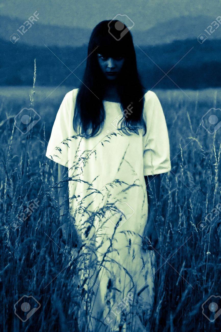 ghost in field Stock Photo - 15224243