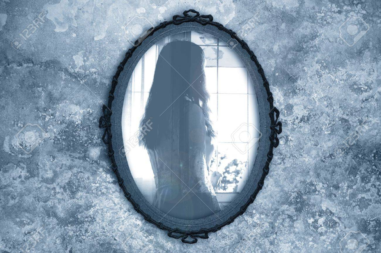ghost in the mirror stock photo picture and royalty free image  - stock photo  ghost in the mirror