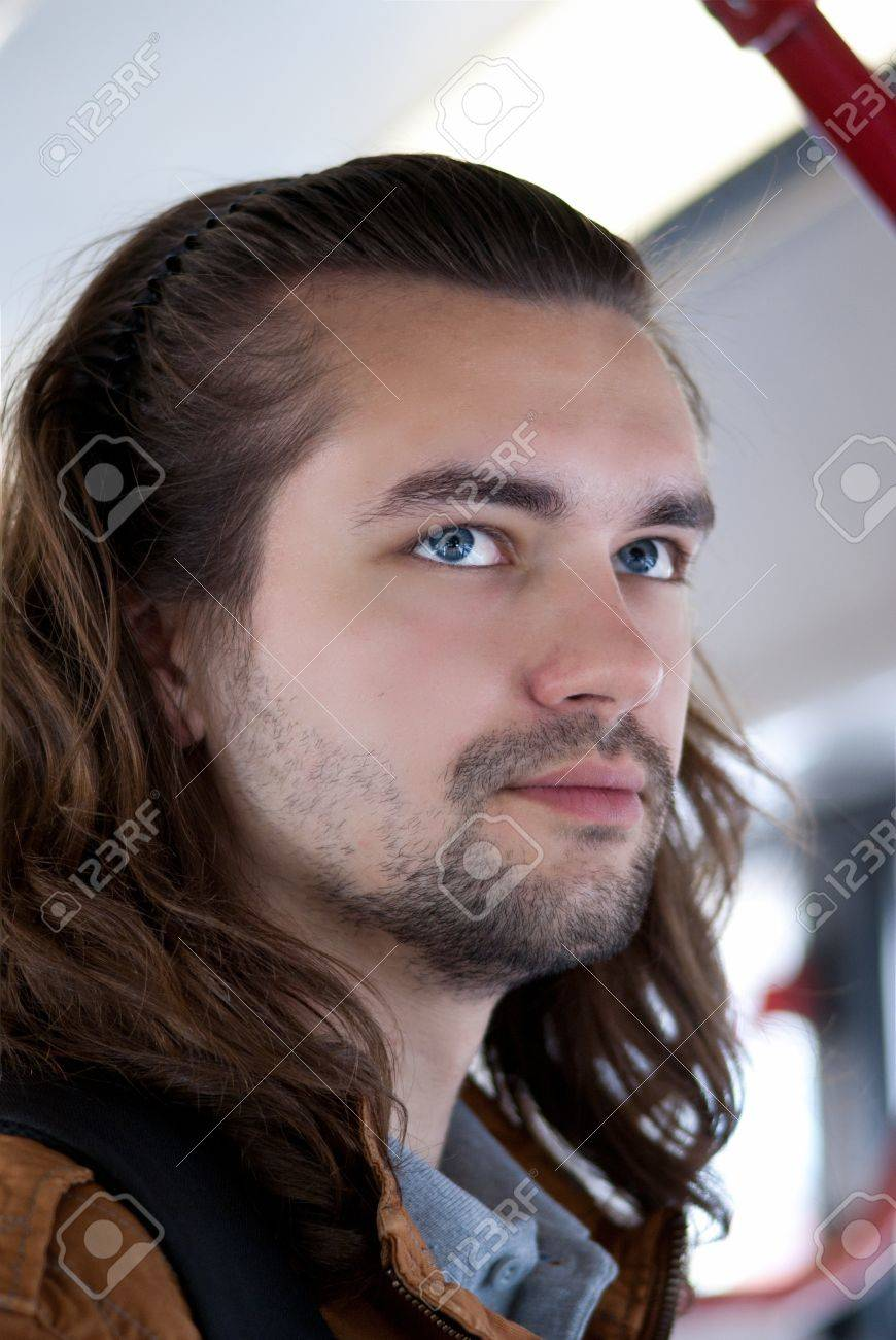 Young sexy attractive guy with long hair Stock Photo - 14312466