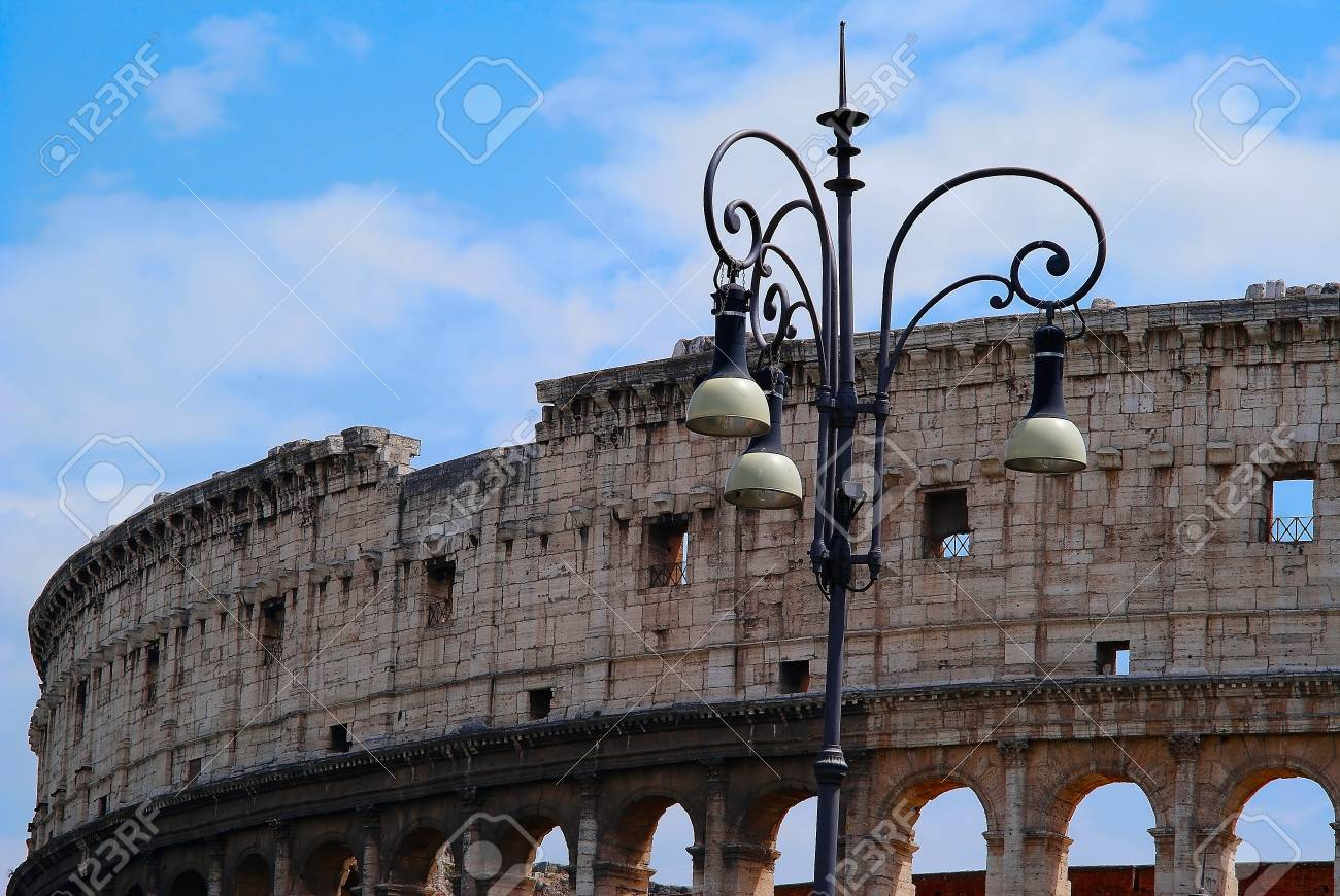 The Colosseum iselliptical amphitheatre Rome, Italy Stock Photo - 14648519