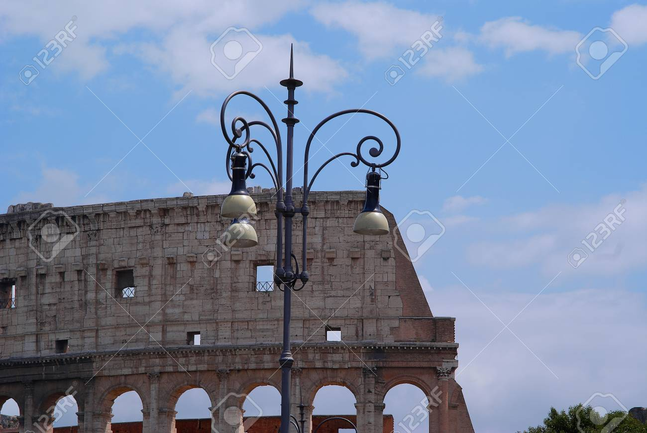 The Colosseum iselliptical amphitheatre in Rome, Italy Stock Photo - 14648518