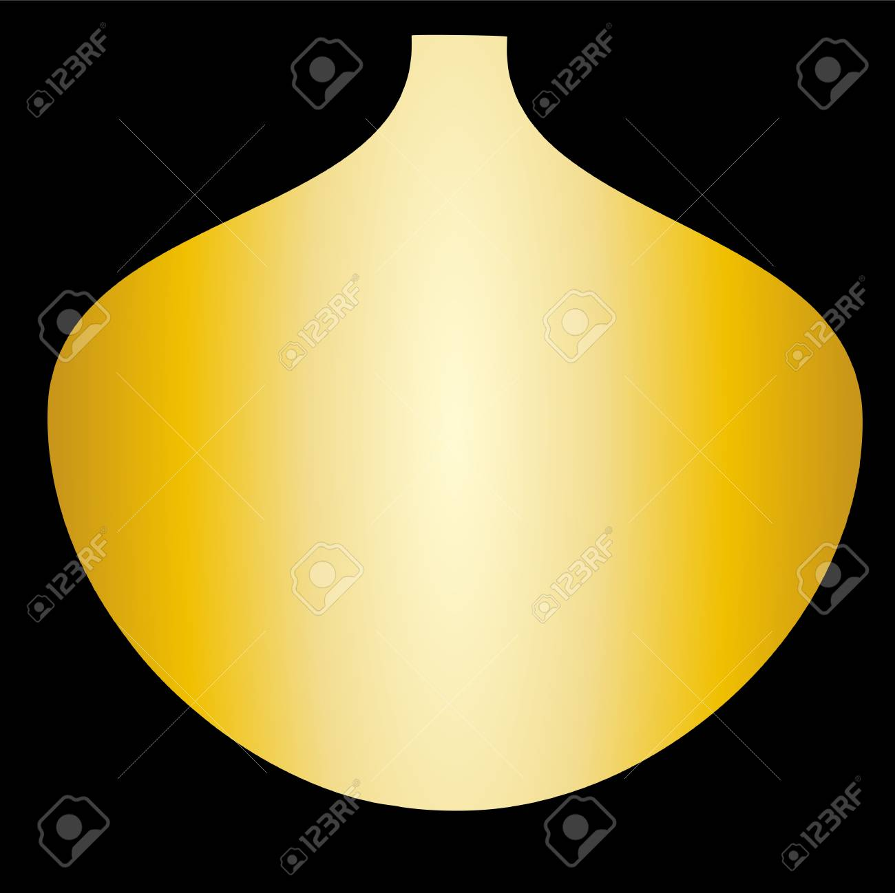 Fresh spring color gold in gold vase flowers Stock Vector - 16818878