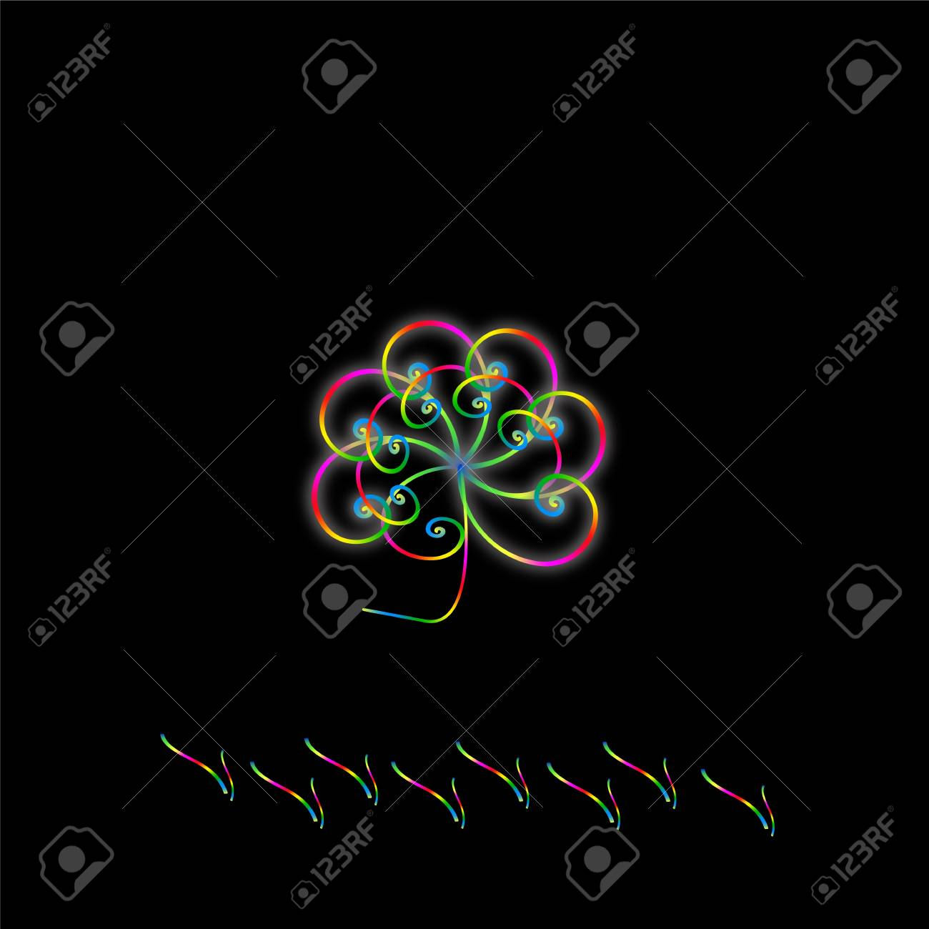Orchid is tender violet Stock Vector - 17524861