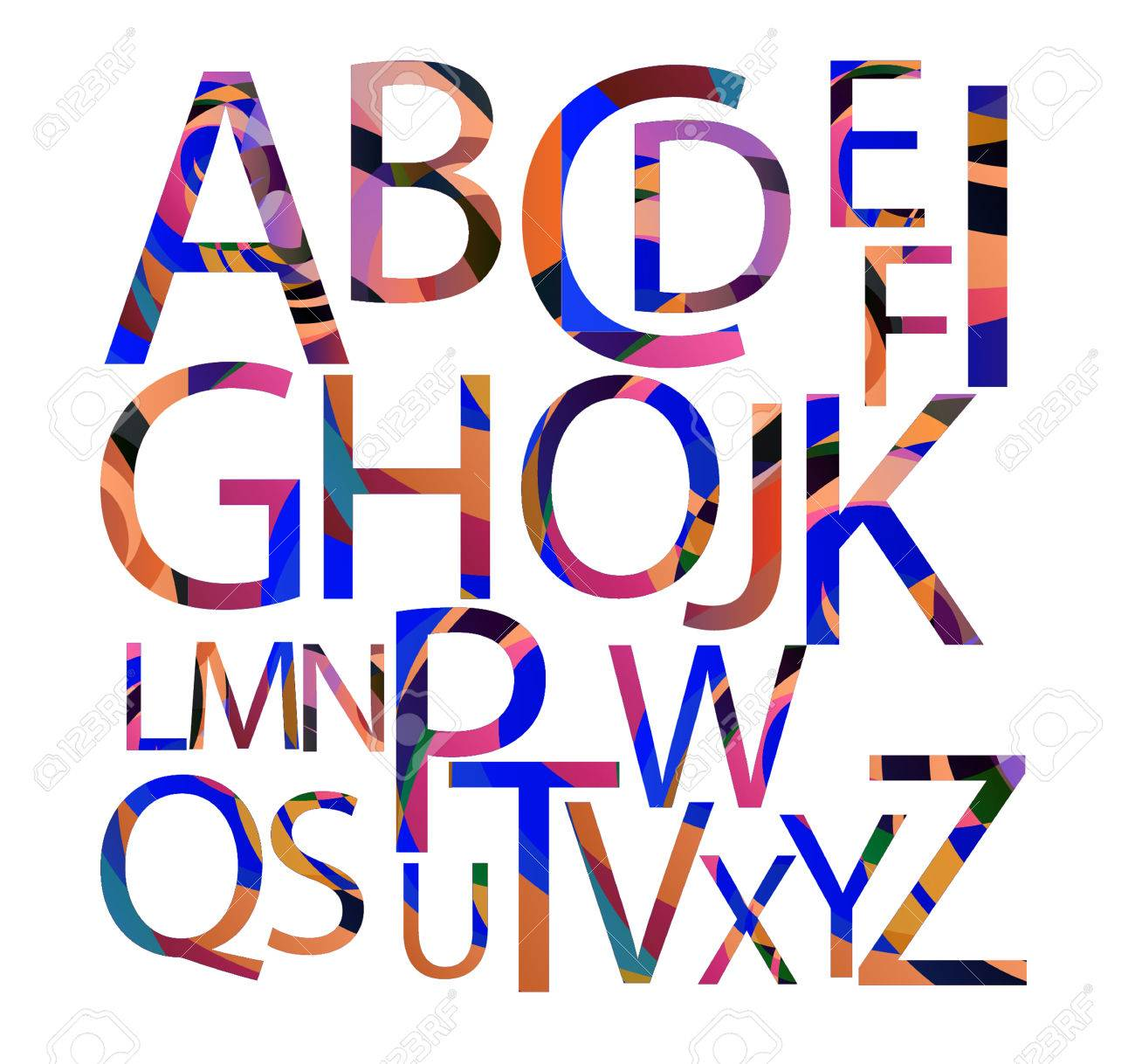 The Letters Of The Alphabet Painted In The Style Of Spray Paint