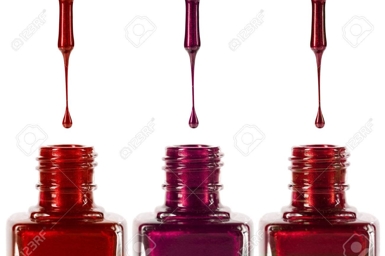 Nail Polish Drop, Macro, Make-up Products Stock Photo, Picture And ...