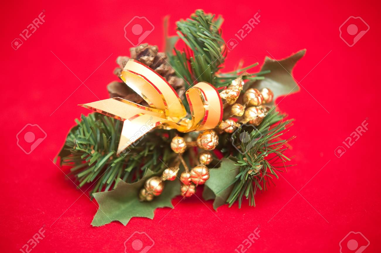Christmas decoration with a pine cone . Stock Photo - 9548722