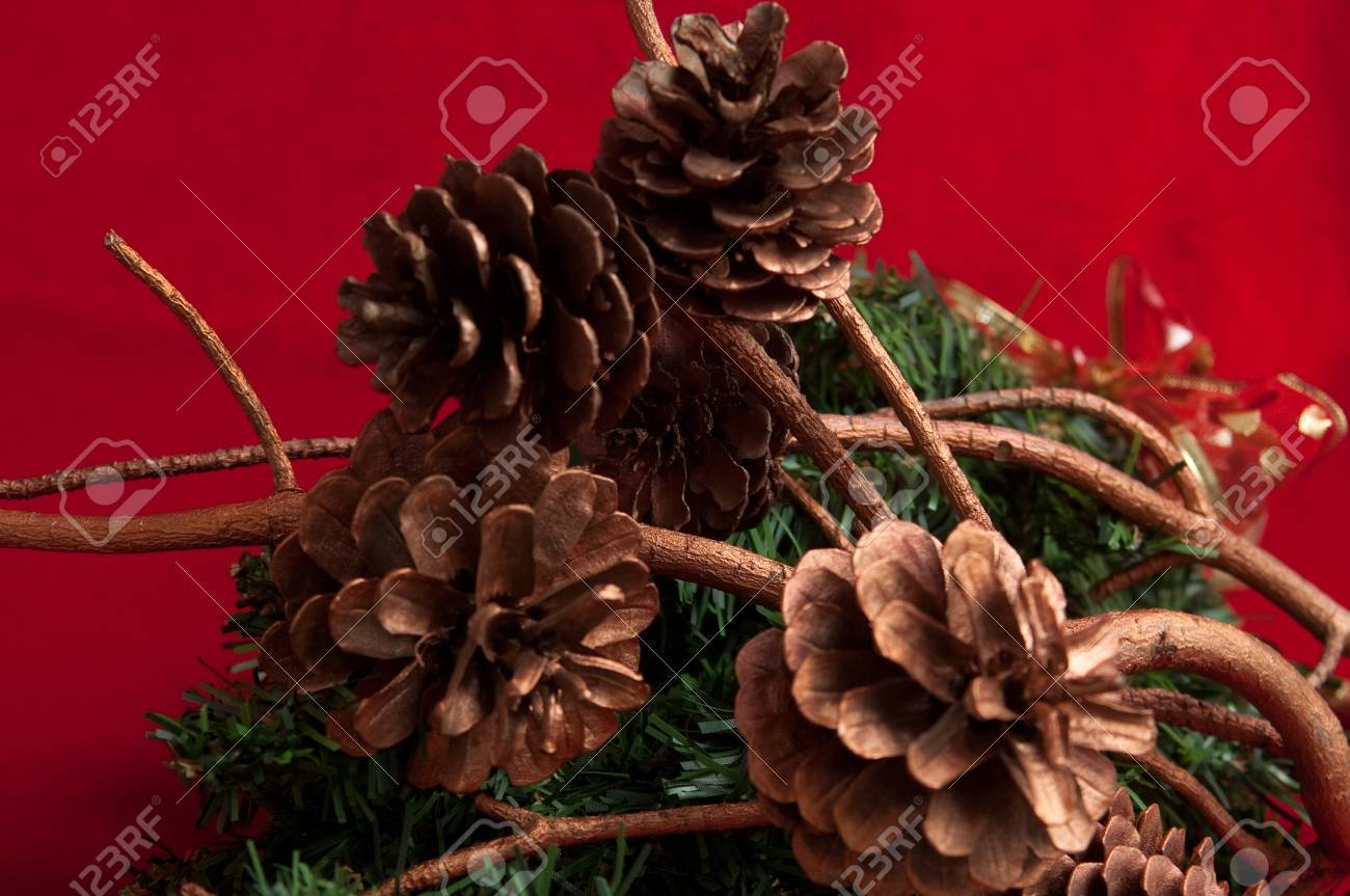 Christmas decoration with a pine cone . Stock Photo - 9553908