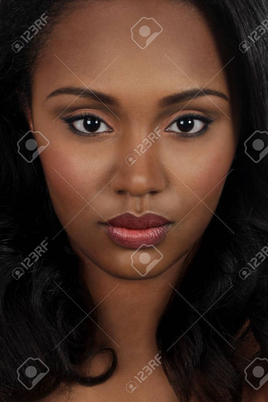 Close up of woman with black hair Stock Photo - 23518895