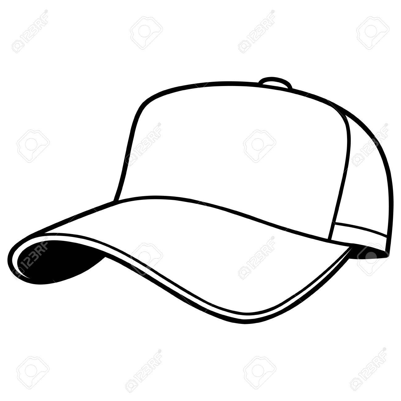 baseball cap illustration royalty free cliparts vectors and stock rh 123rf com baseball hat vector art blank baseball hat vector