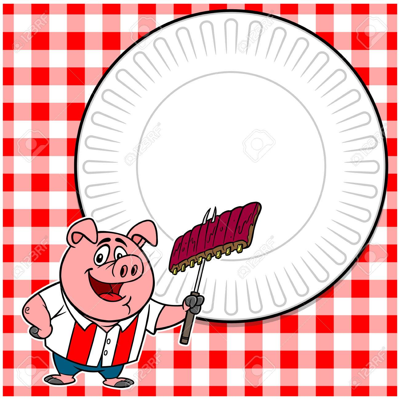 bbq cookout invite royalty free cliparts vectors and stock