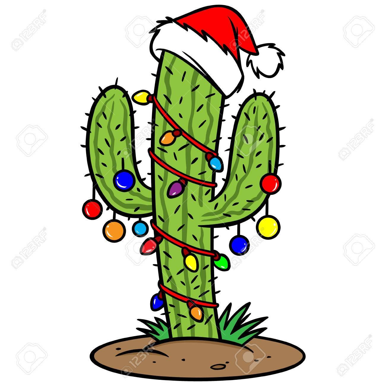 Christmas Cactus Clipart.Christmas Cactus