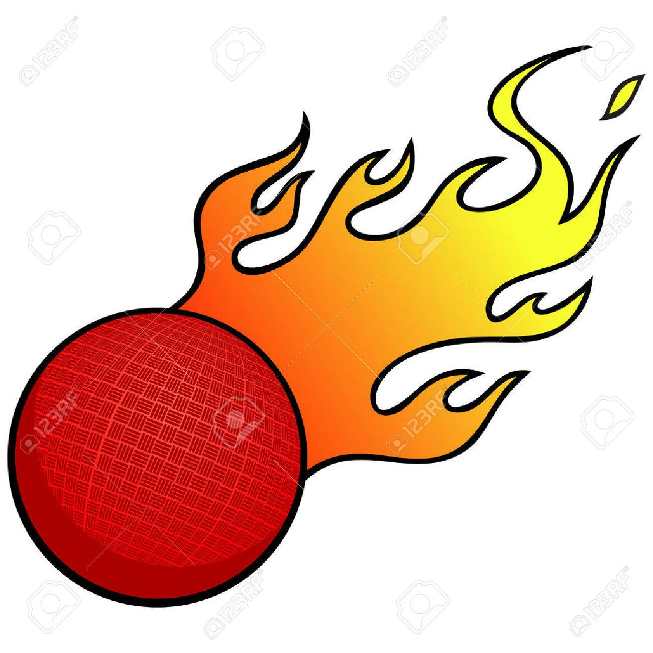 dodgeball with flames royalty free cliparts vectors and stock rh 123rf com