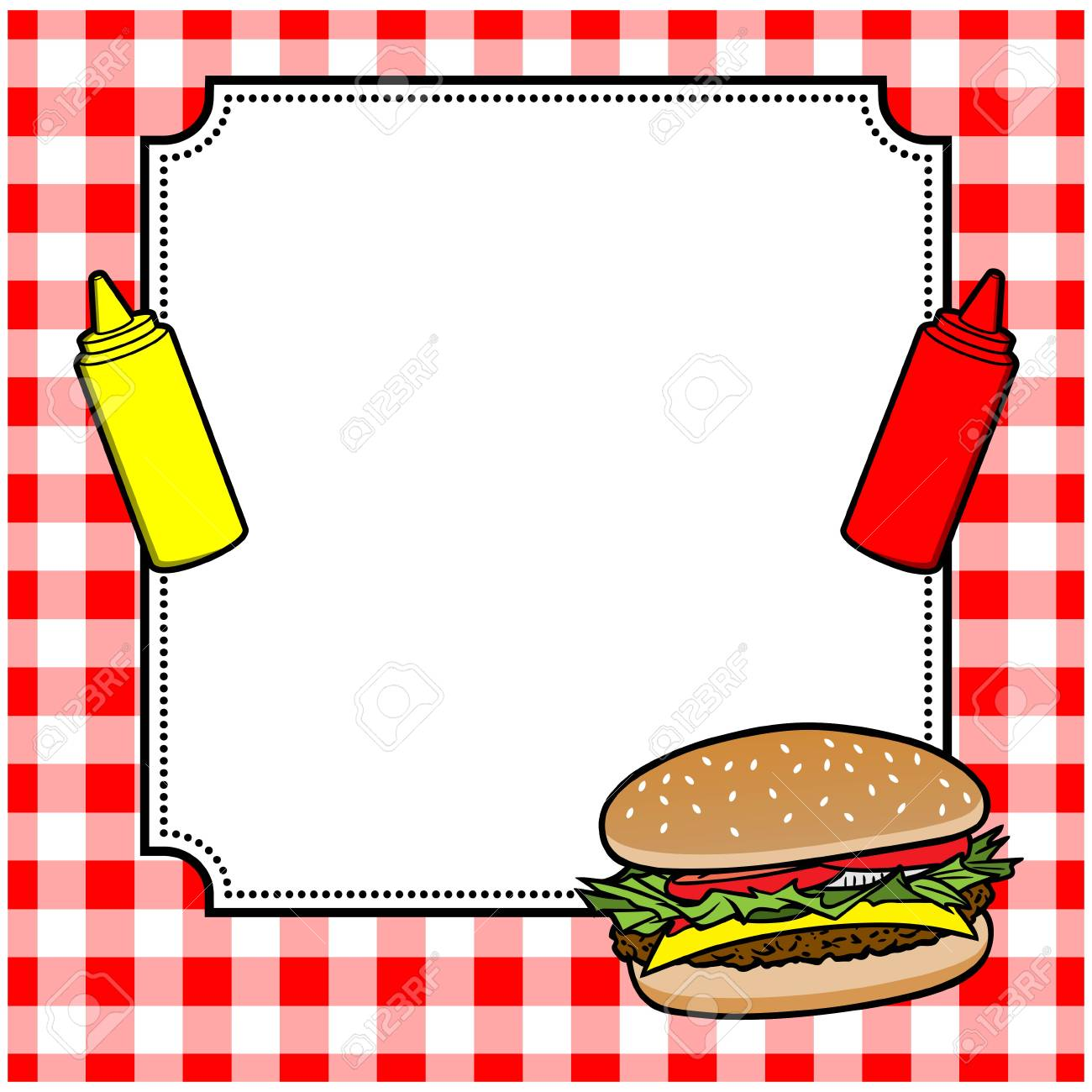 hamburger cookout invite royalty free cliparts vectors and stock