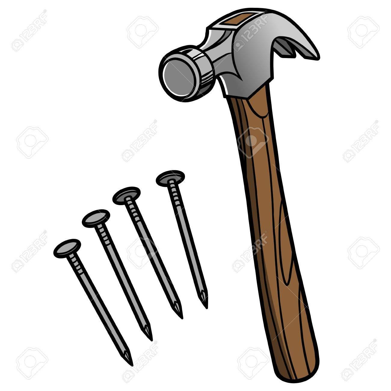 hammer and nails royalty free cliparts vectors and stock illustration image 57535472 hammer and nails