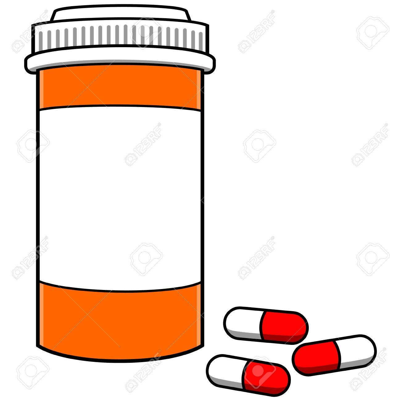 pill bottle with pills royalty free cliparts vectors and stock rh 123rf com  medication bottle clipart