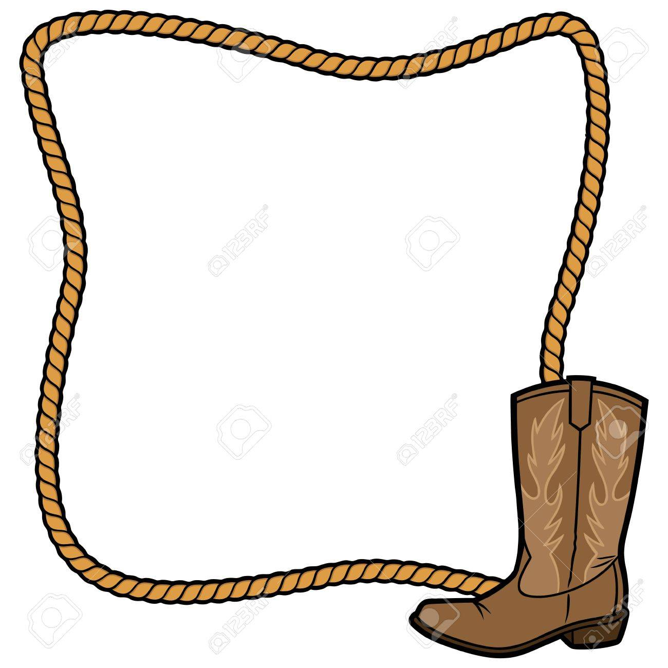 Rope Frame and Cowboy Boot - 57875023