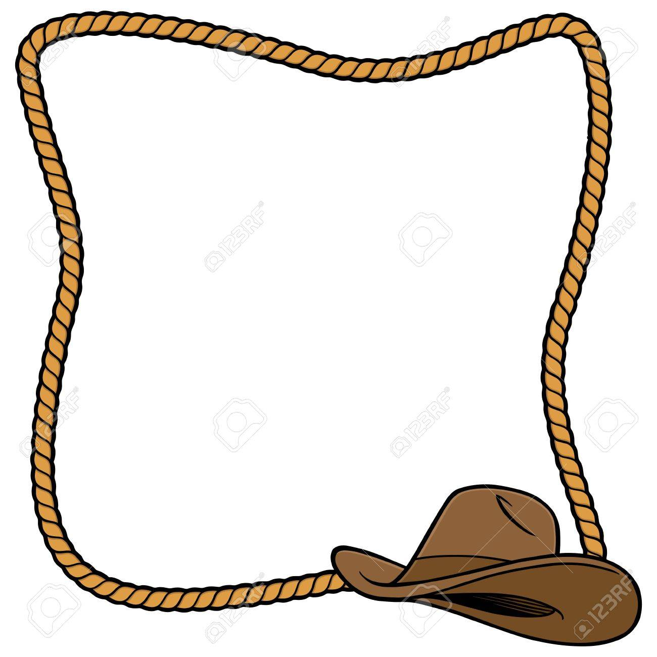 rope frame and cowboy hat royalty free cliparts, vectors, and stock  illustration. image 57875022.  123rf
