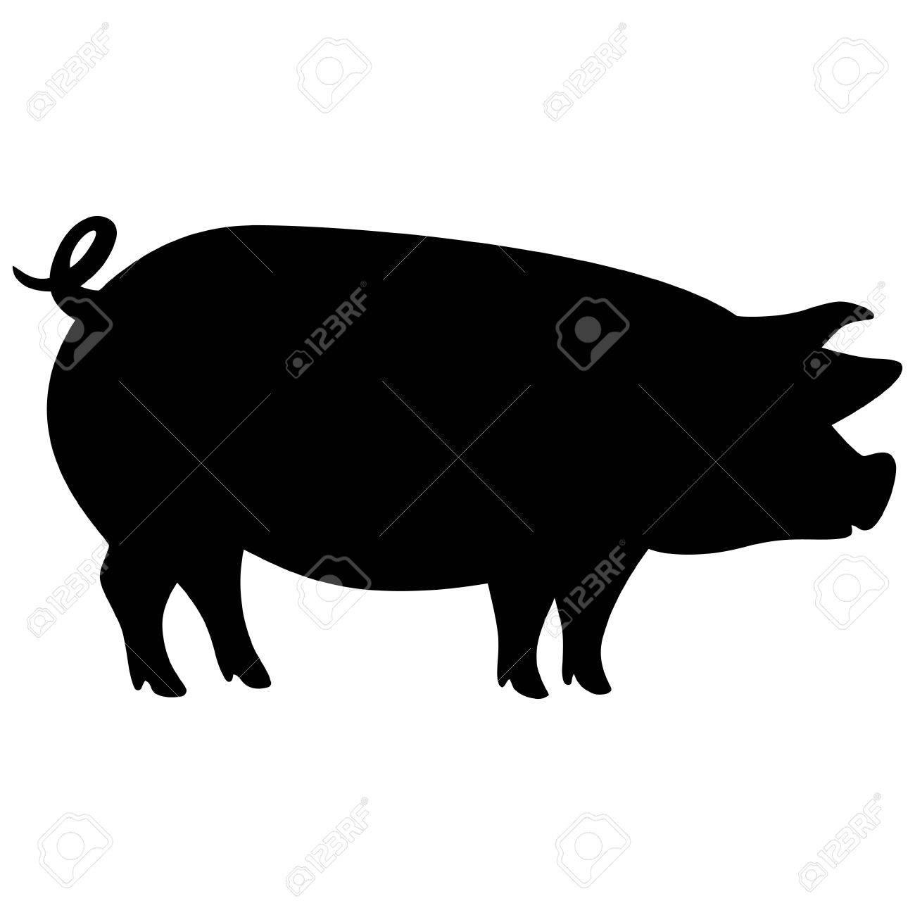 豚のシルエットのイラスト素材ベクタ Image 61509551