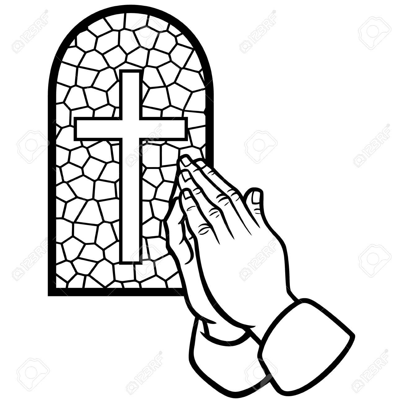 教会の祈りイラストのイラスト素材ベクタ Image 61903879