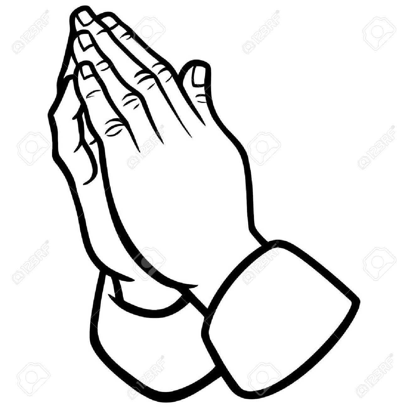 Praying Hands Illustration Royalty Free Cliparts Vectors And