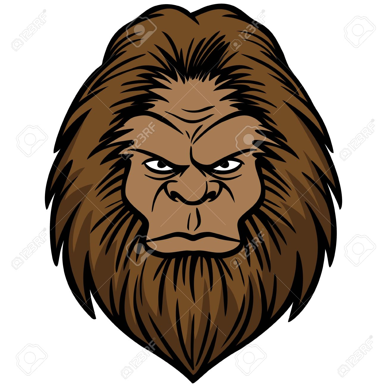 bigfoot head royalty free cliparts vectors and stock illustration rh 123rf com