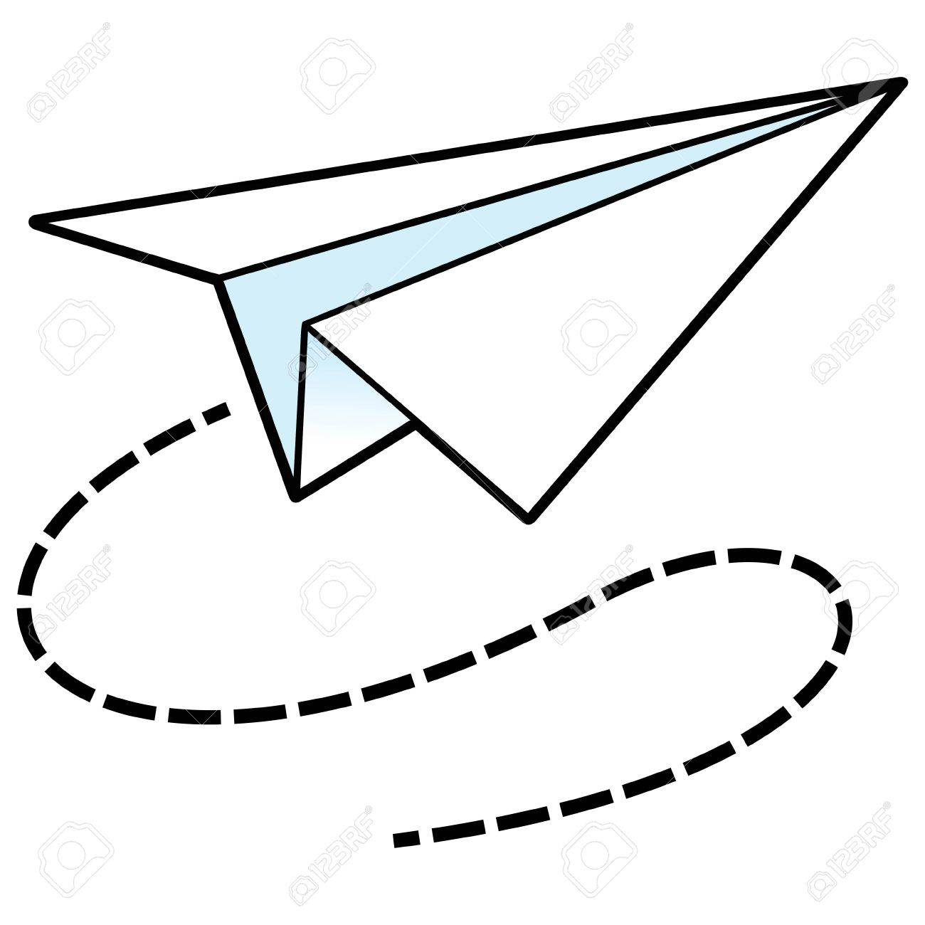 paper airplane icon royalty free cliparts vectors and stock rh 123rf com paper airplane vector graphic free paper airplane vector free download