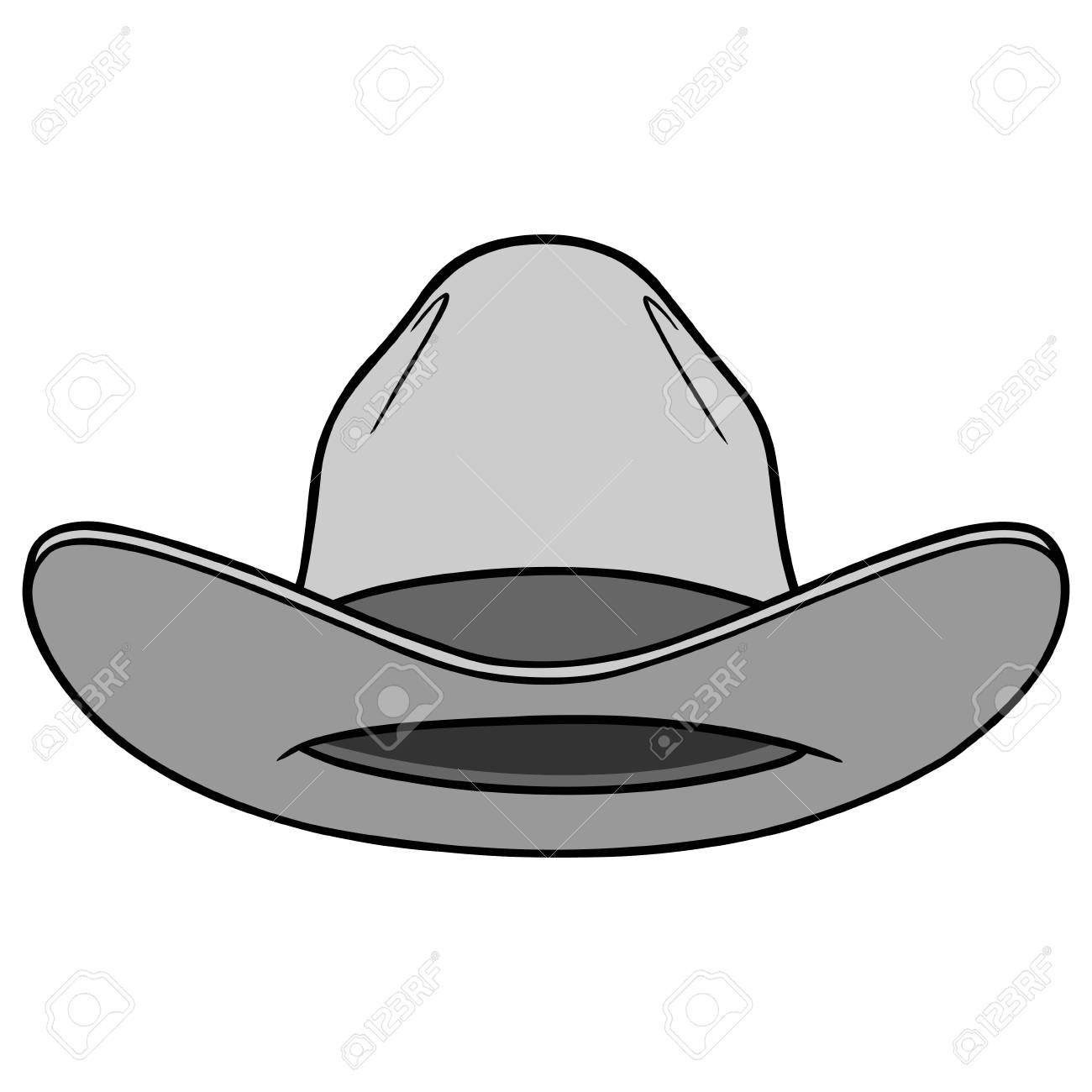 Cowboy Hat Front Illustration Stock Vector - 71619199 d67082ccd50