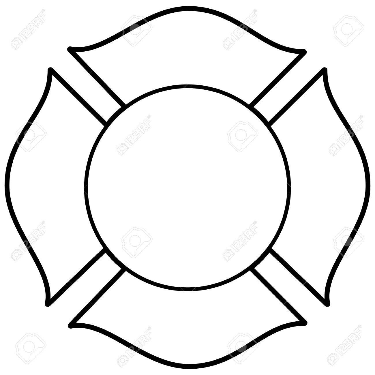 firefighter maltese cross illustration royalty free cliparts rh 123rf com maltese cross vector free maltese cross vector free