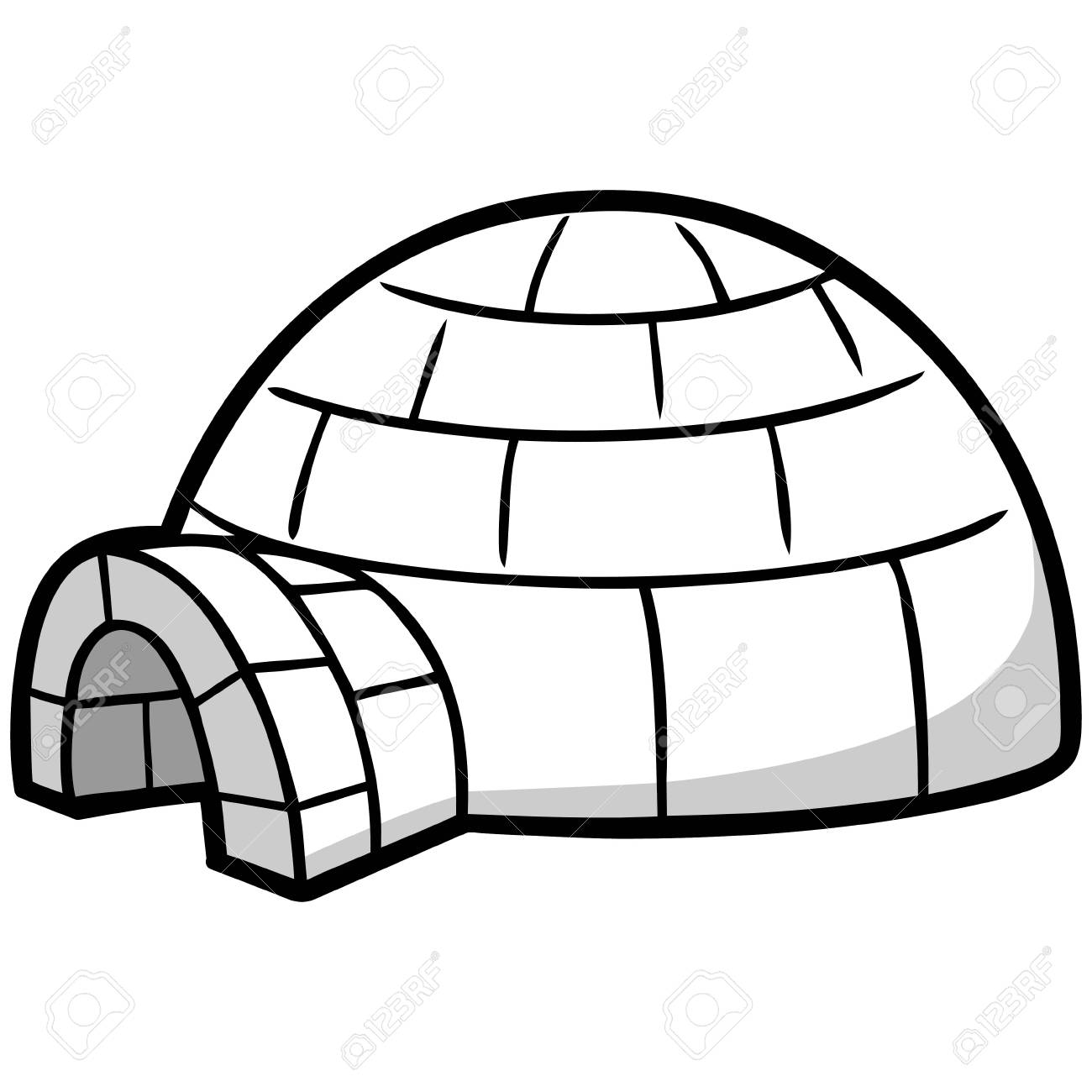 igloo illustration royalty free cliparts vectors and stock rh 123rf com igloo clipart black and white igloo clipart outline