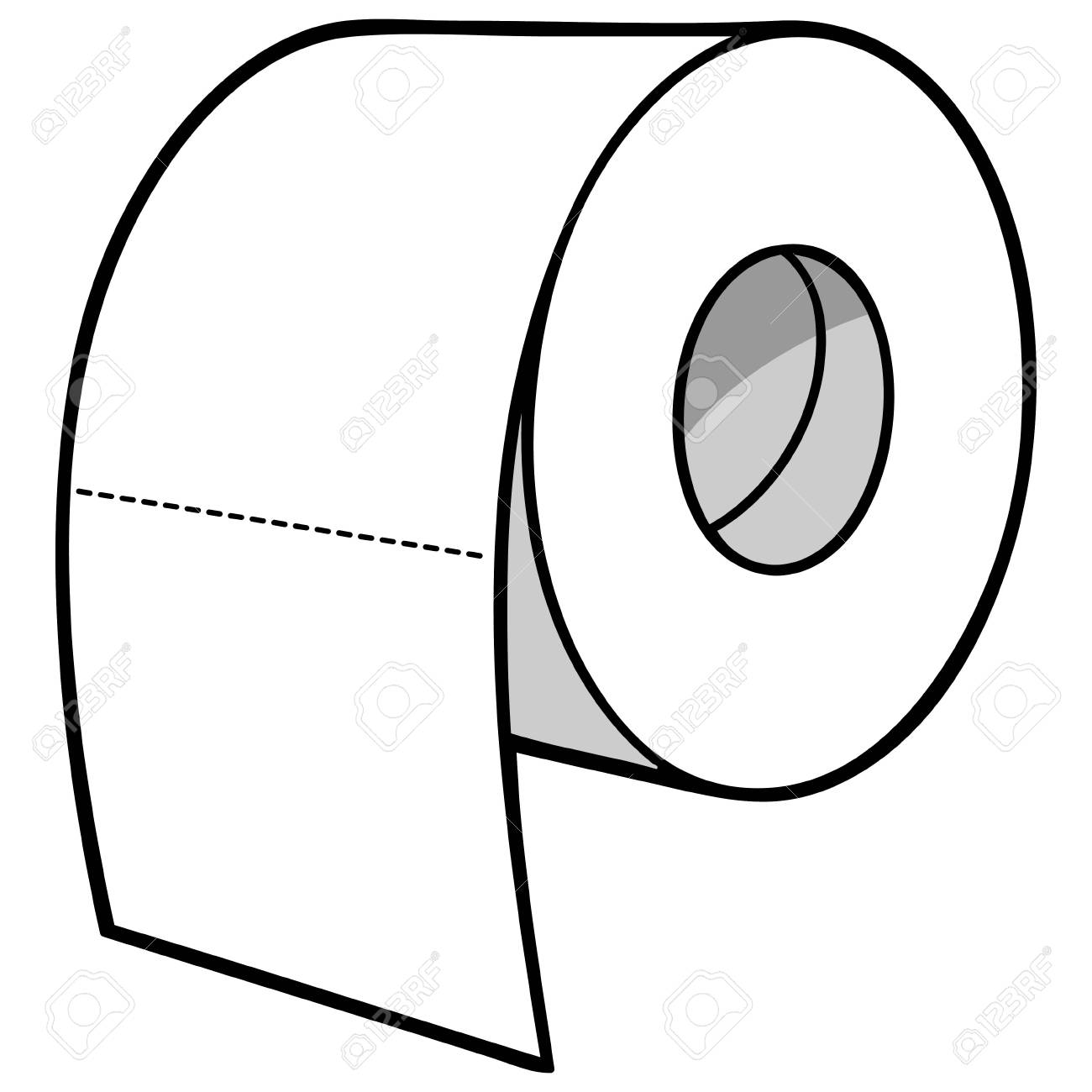 toilet paper illustration royalty free cliparts vectors and stock rh 123rf com toilet paper clip art free toilet paper clipart black and white