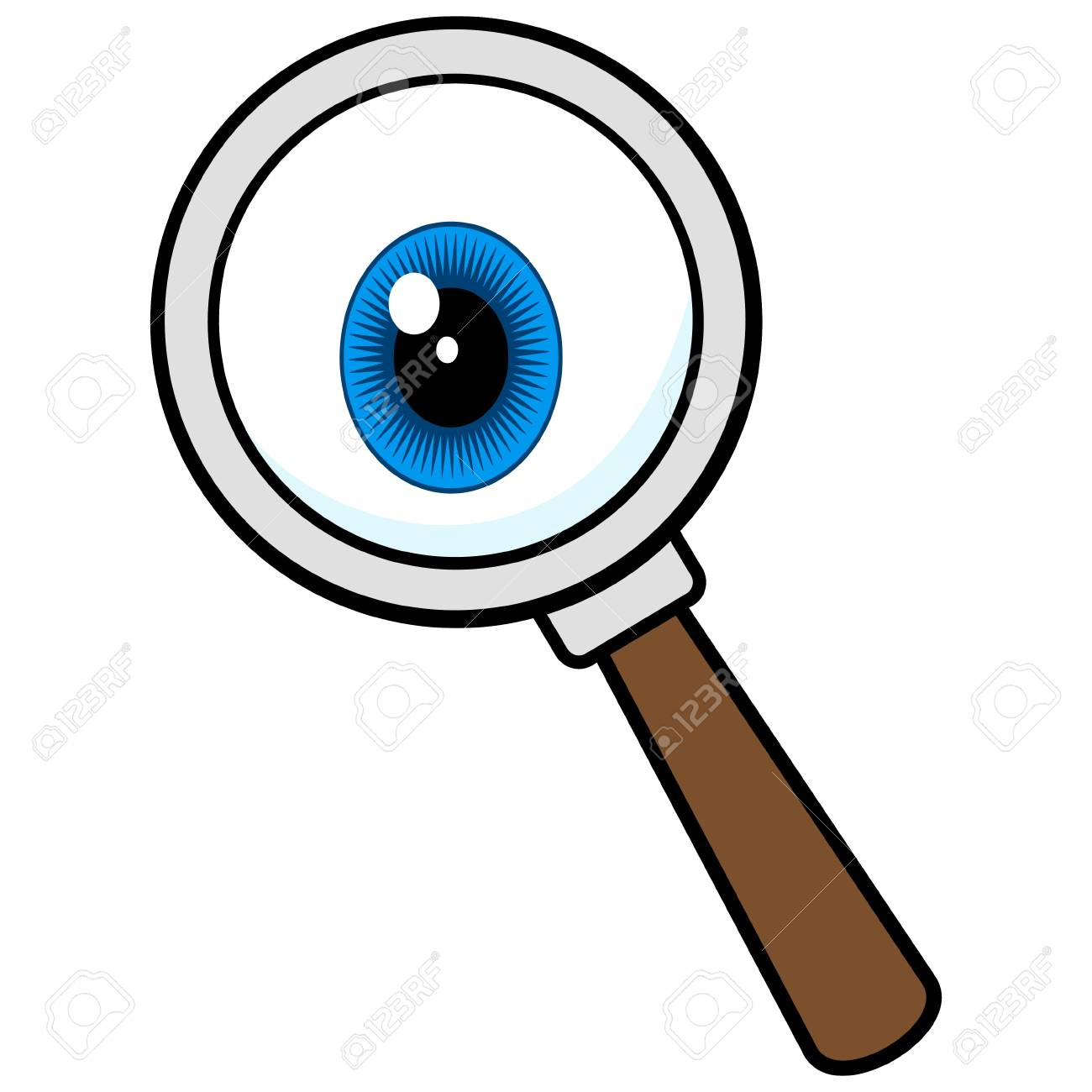 Private Eye Magnifying Glass Royalty Free Cliparts Vectors And Stock Illustration Image 80628792