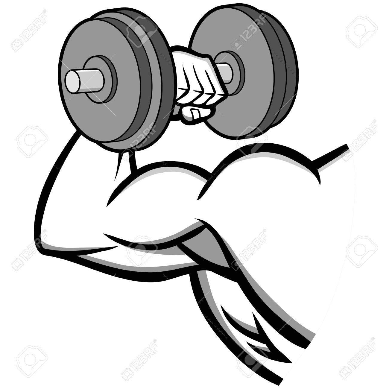 Bodybuilding Illustration - Une Illustration Vectorielle D & # 39 ; Un Dessin Animé De La Musculation Clip Art Libres De Droits , Vecteurs Et Illustration. Image 91477793.
