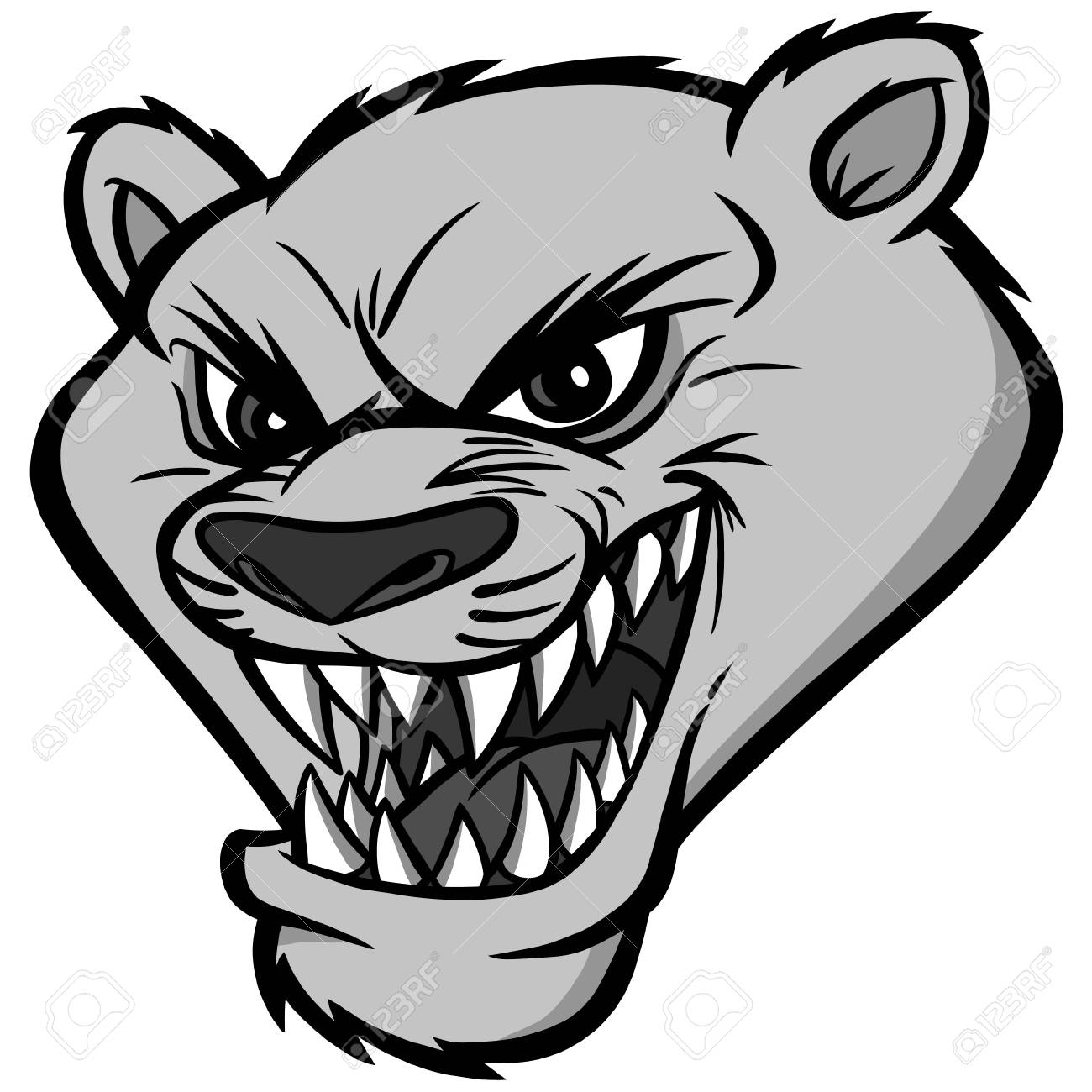a vector illustration of a cartoon cougar mascot head royalty free rh 123rf com cartoon cougar paw cartoon cougar running
