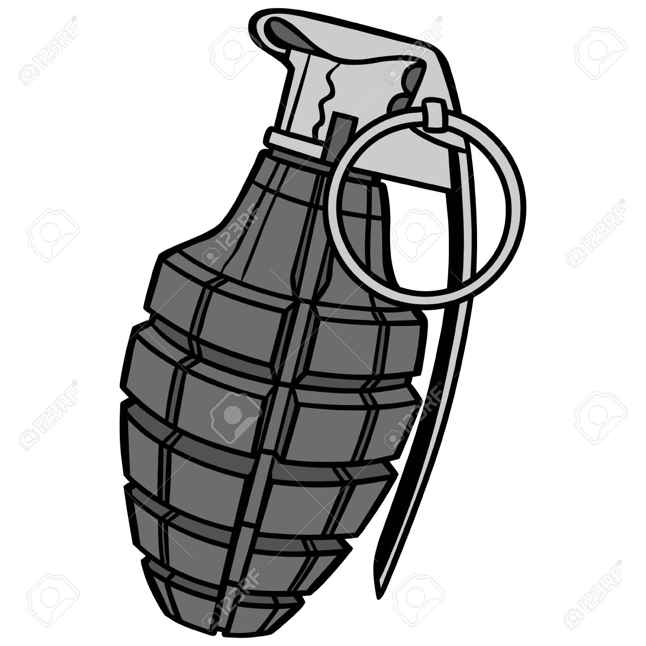 hand grenade illustration a vector cartoon illustration of rh 123rf com hand grenade vector free download