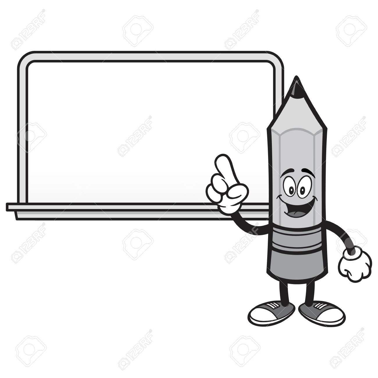 black and white school pencil with a whiteboard a vector cartoon royalty free cliparts vectors and stock illustration image 110275329 black and white school pencil with a whiteboard a vector cartoon