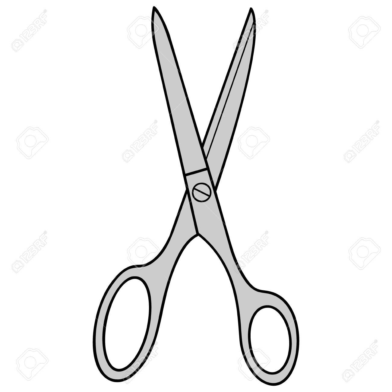 Hair Cutting Scissors Cartoon 105