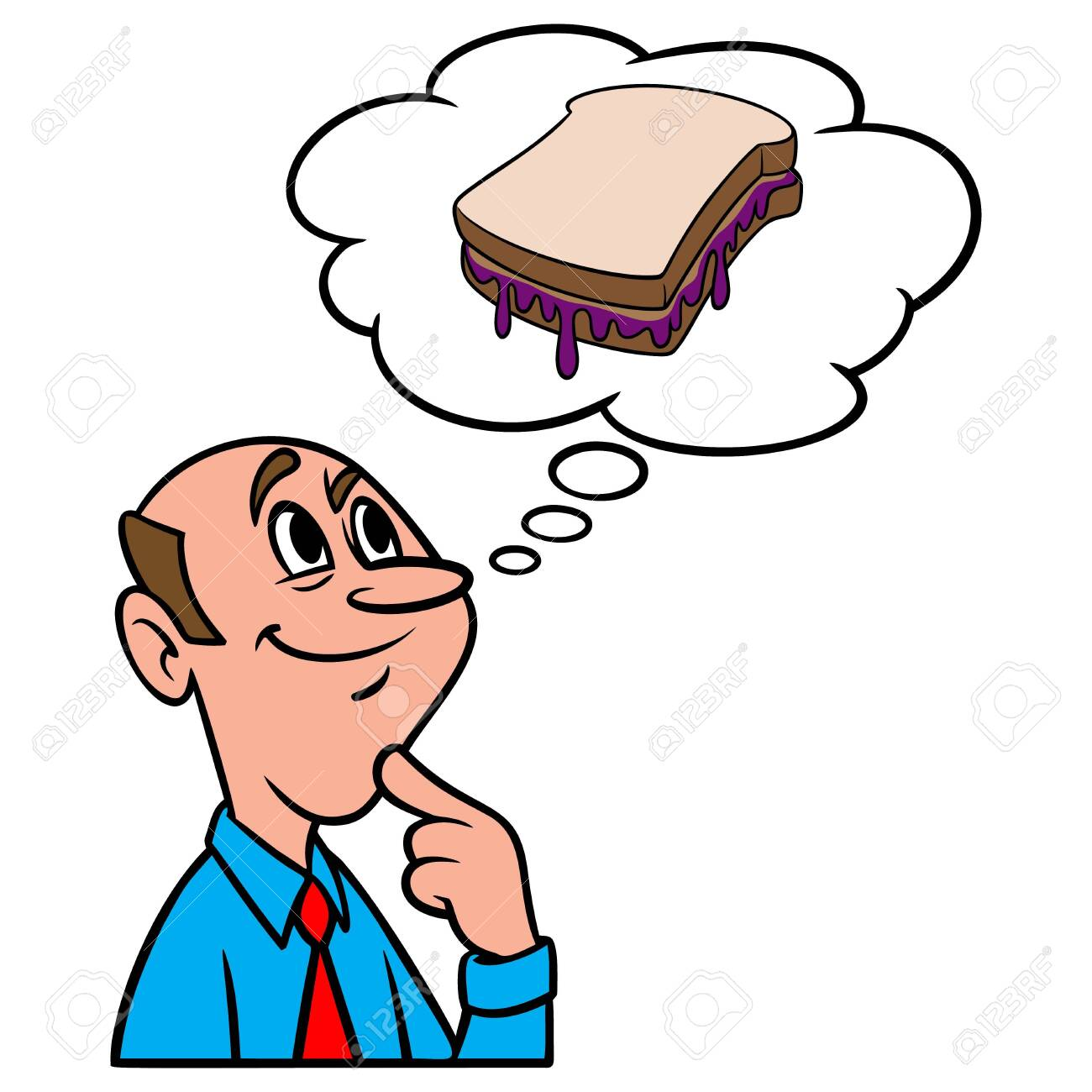 thinking about peanut butter and jelly a cartoon illustration royalty free cliparts vectors and stock illustration image 147134263 thinking about peanut butter and jelly a cartoon illustration