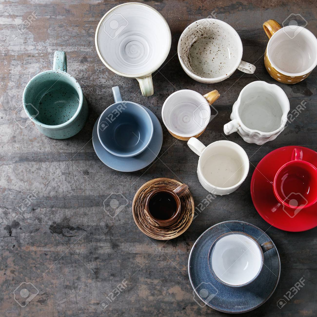 Empty Colorful Modern Ceramic Plates And Bowls Collection Various Stock Photo Picture And Royalty Free Image Image 77410585