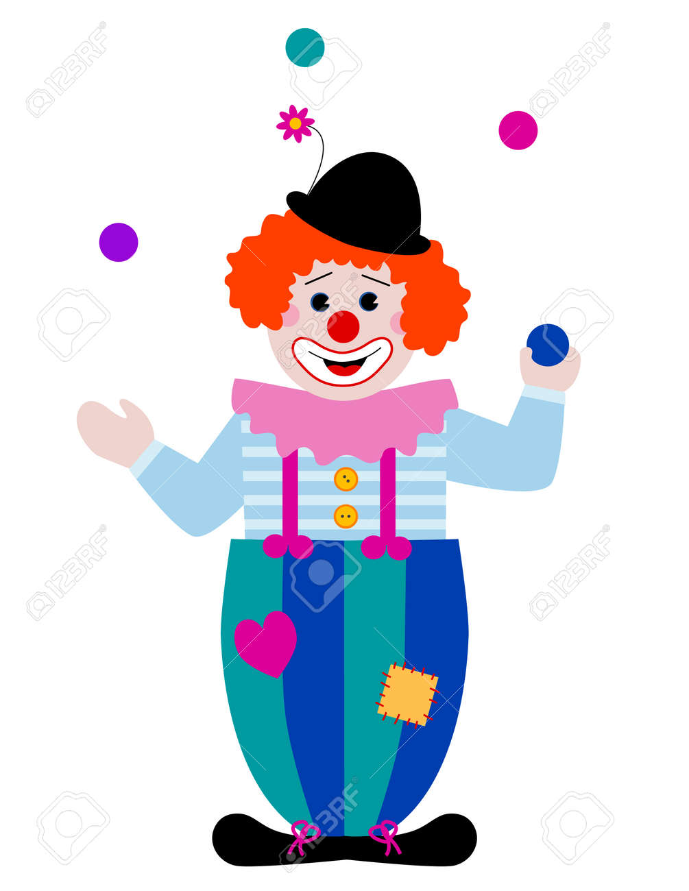 Royalty Free Clipart Image of a Man Juggling Bingo Balls in the Air #446679  | iCLIPART for Schools