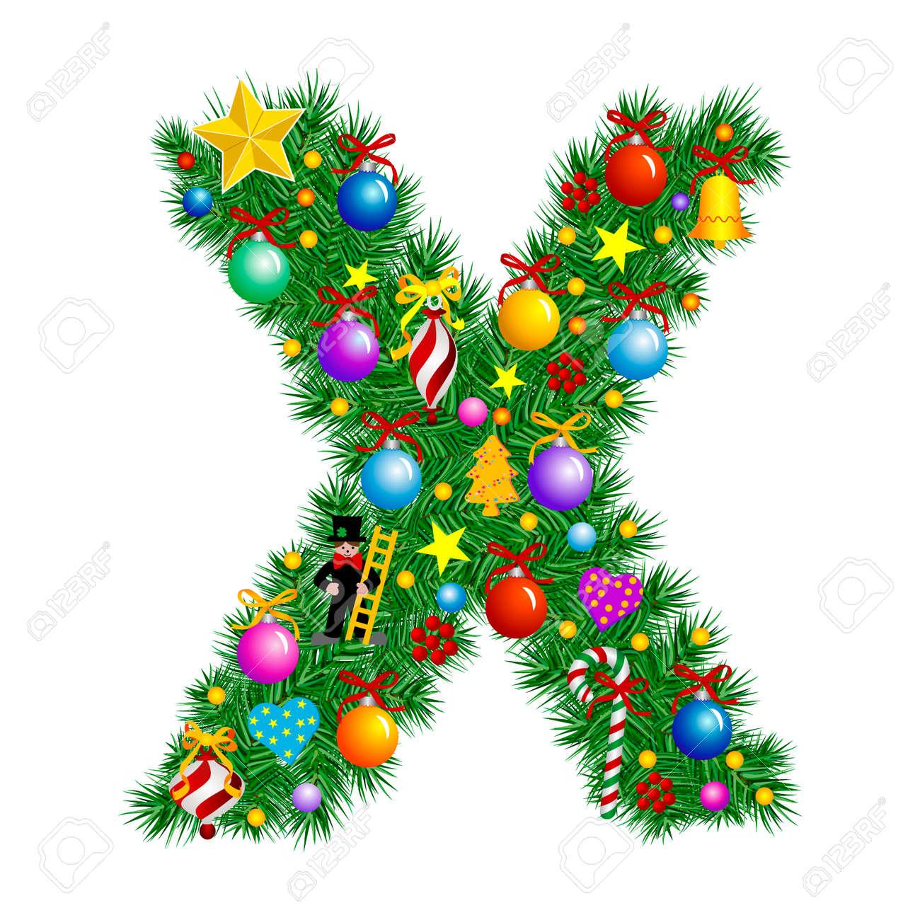x christmas ornament