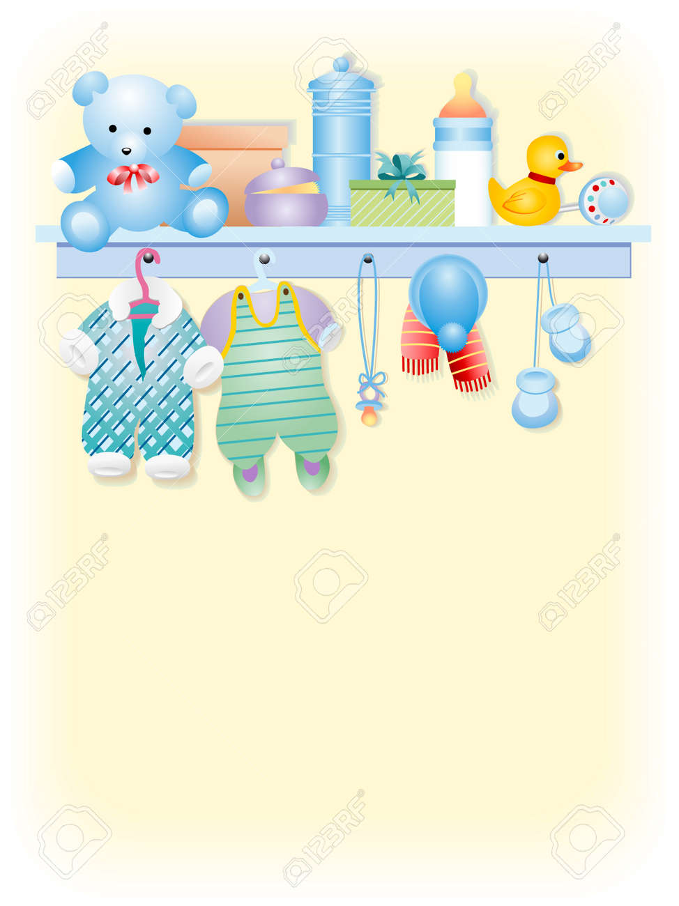 Clothes and accessories for  boy -  boy garment Stock Vector - 3469623