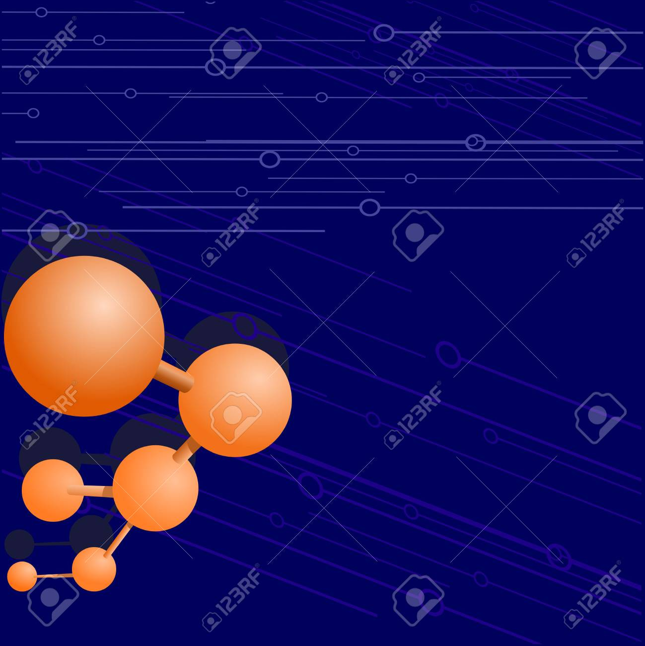 Vector  background with a molecule Stock Vector - 11890948