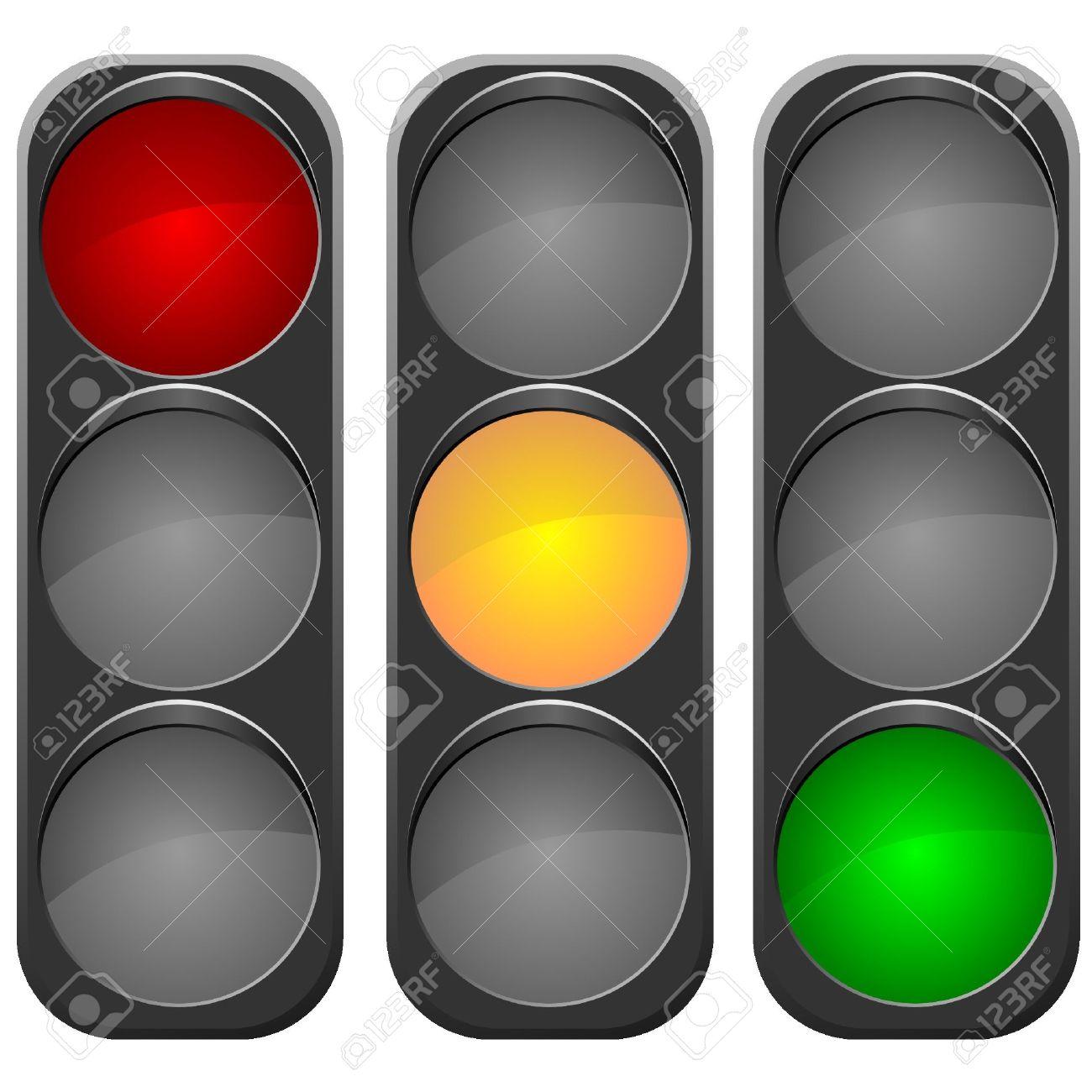 Vector image traffic light Stock Vector - 11908389