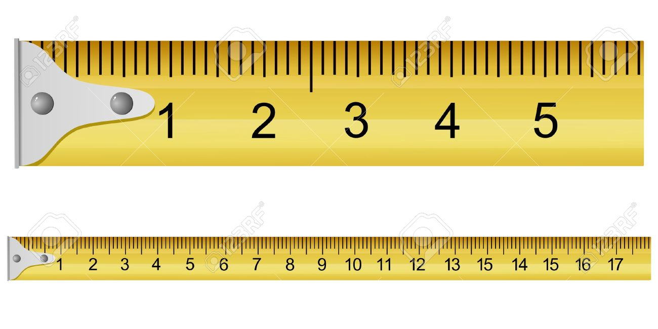 worksheet Measurements On A Tape Measure vector illustration of a measuring tape royalty free cliparts tape