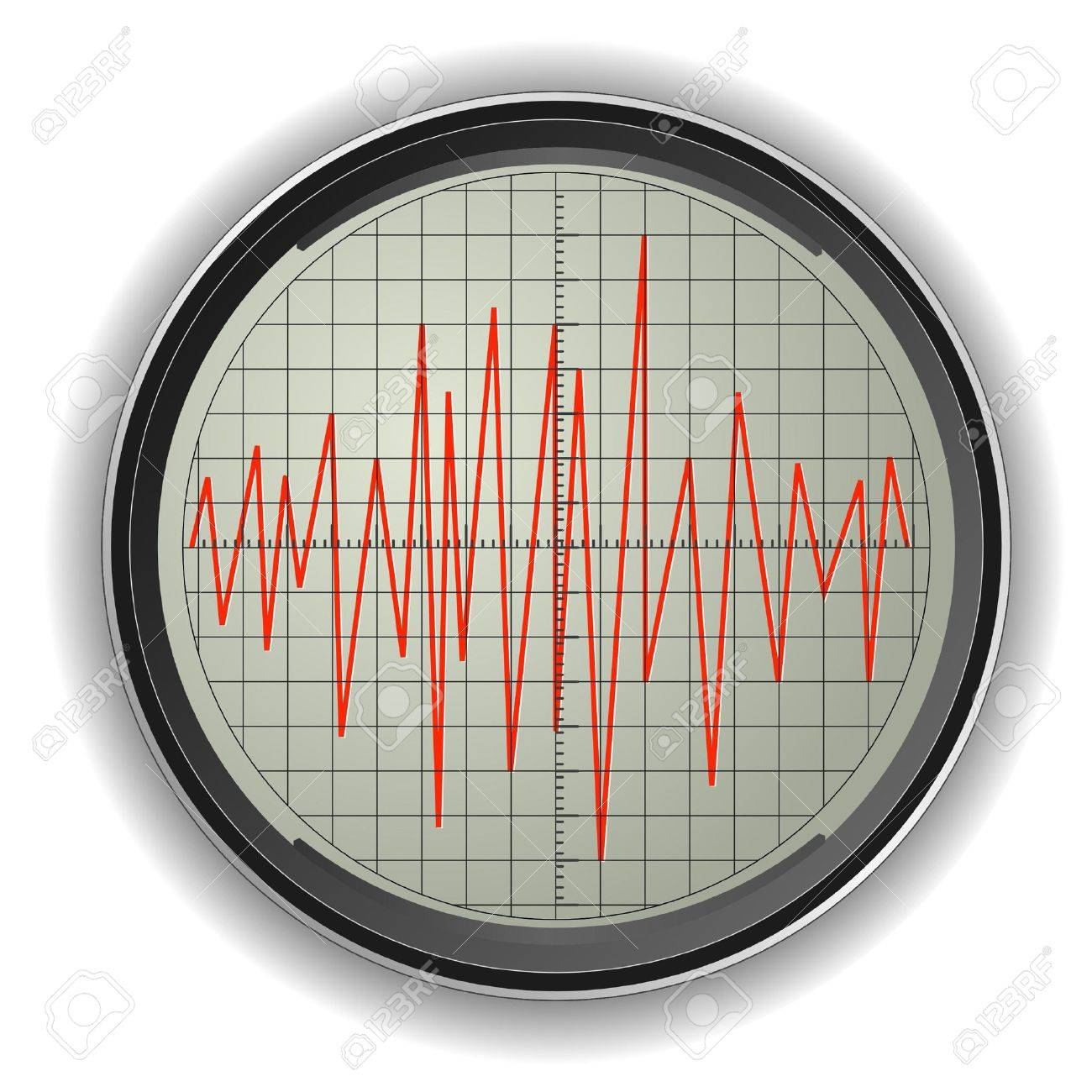 Vector illustration of an oscilloscope Stock Vector - 11942977