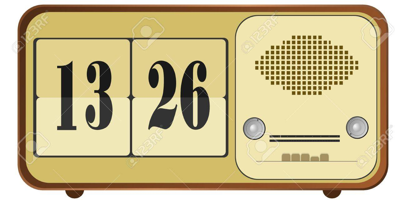 Vector illustration of old clock radio Stock Vector - 11942892