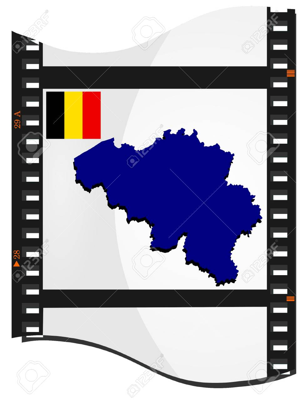 Vector image footage with a map of Belgium Stock Vector - 11942795