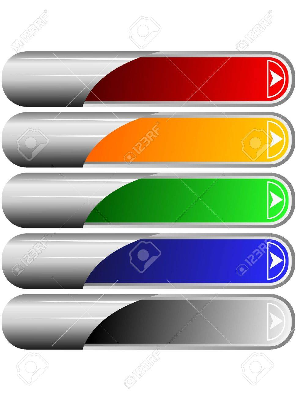 Set of color long buttons 6 Stock Photo - 11942695