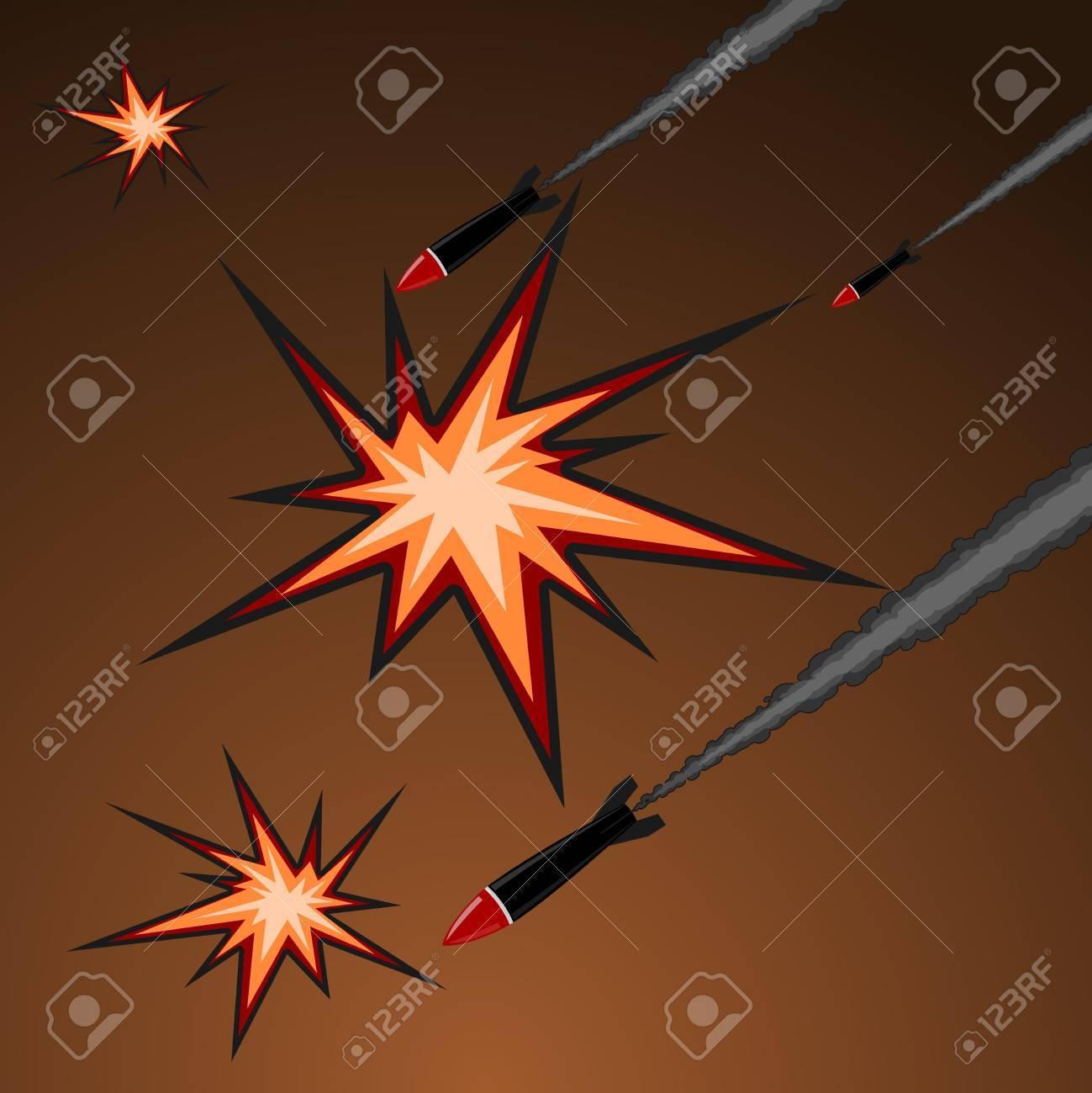 Vector illustration of rocket attack Stock Vector - 11942725
